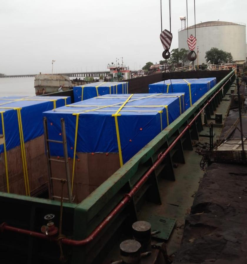 Movement of Machinery from Mumbai to Hamburg via Barge from Mumbai Port to JNPT