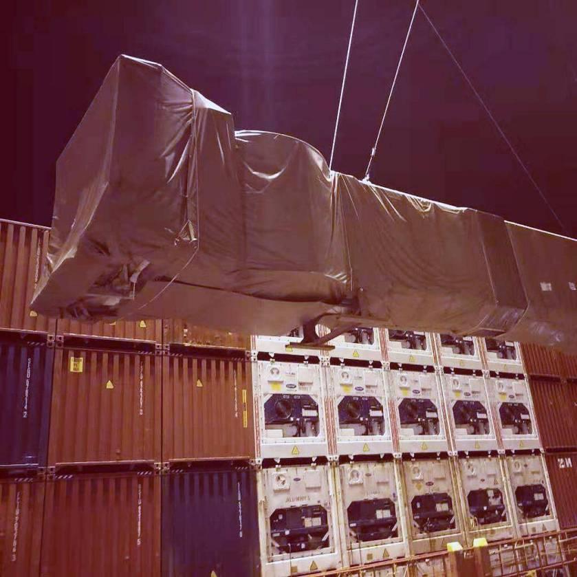Our South China special cargo team handled 3 break bulk units.