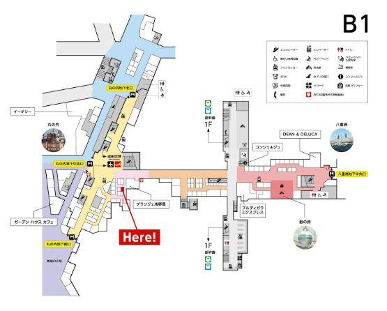 ザメープルマニアの東京駅の地図