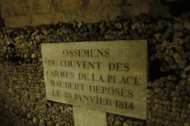 Paris catacombs, Paris Underground, grave marker, skulls, project dreamscape