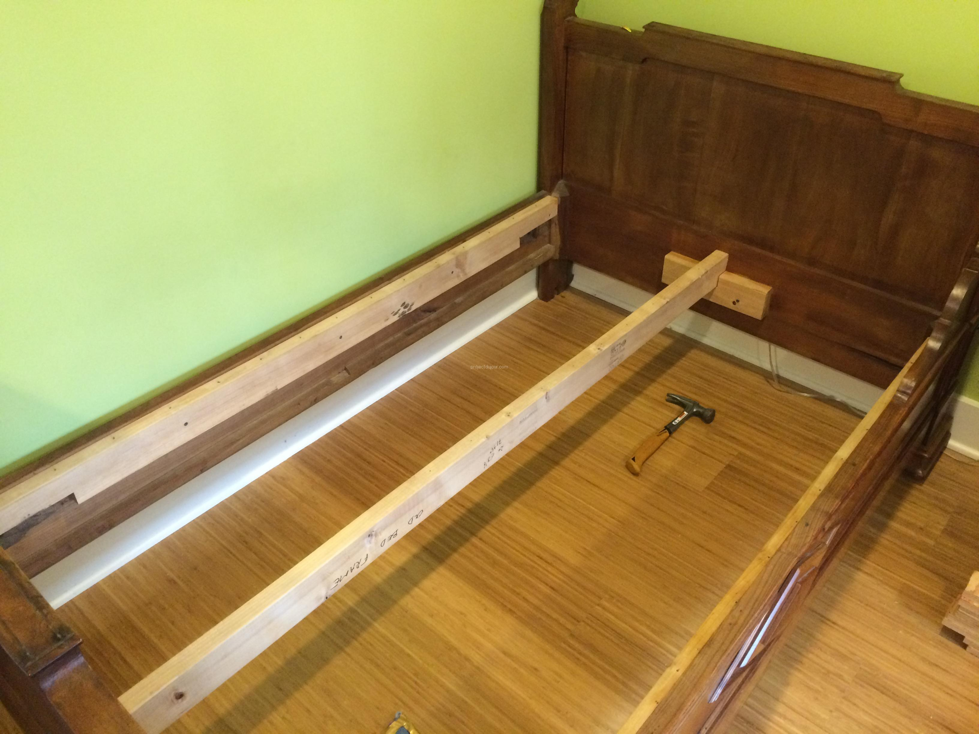 IKEA Hack Custom Size Slatted Bed Base