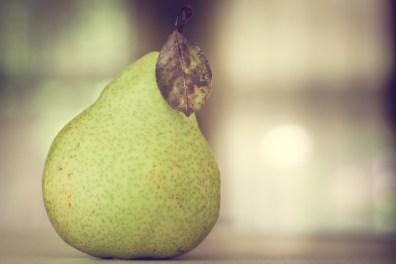 Still life of a pear NotSoSAHM