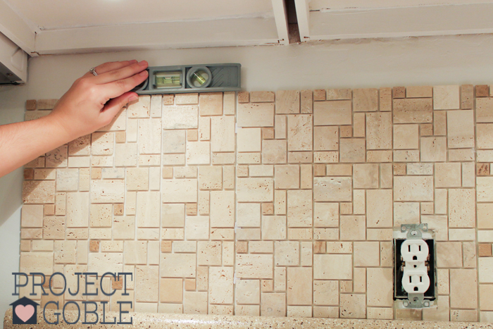 stick mosaic tile kitchen backsplash