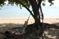 hammock napping on the beach