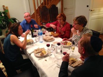 Passover dinner with cousins Gerard and Janine