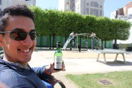 Paris Picnic with baby wine bottle