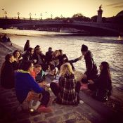Picnicking with Katya, Patrick and friends beside the Seine