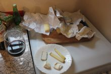 Yummy fancy cheese and wine. What more could you want!?
