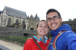 Visiting a castle in Angers
