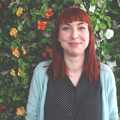 Lize Meddings, the person behind TSGC's beautiful comics (Photo taken from The Sad Ghost Club website)