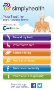 Simply Health BackCare App