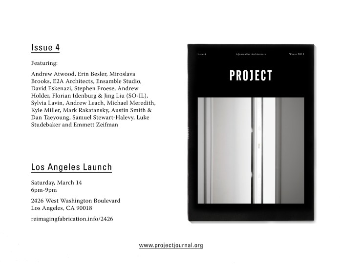 PROJECT_Issue Four_Launch