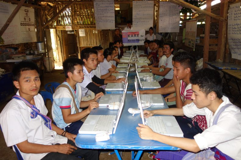 Project KARE donated 30 used laptops at Mae Ra Moe Refugee Camp Nov. 2014. This was only made possible by Rose Keating and our friends at Denver Tech For All.