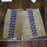 Tan Desert Strip Shorts-$49