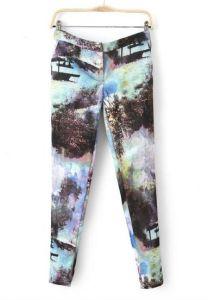 Teal Landscape Trousers