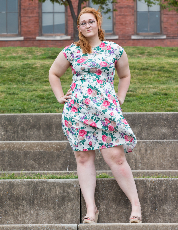 Dress--American Eagle. Shoes--Converse.