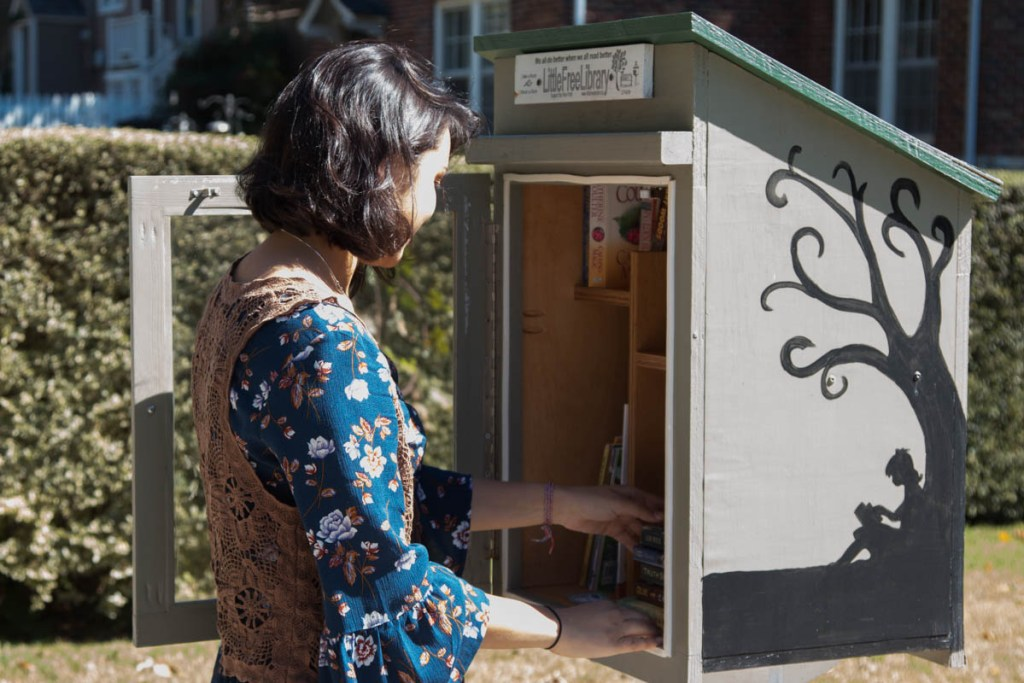 A little pop-up library just outside downtown Franklin.