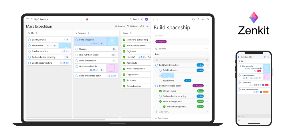 Zenkit reinvents the kanban with major new update.board with