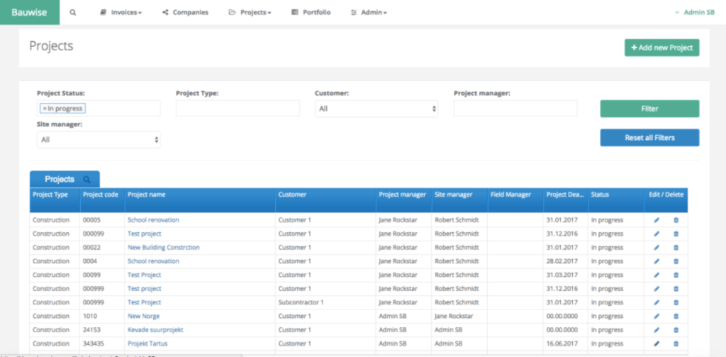 Bauwise Project Cost Software Screenshots