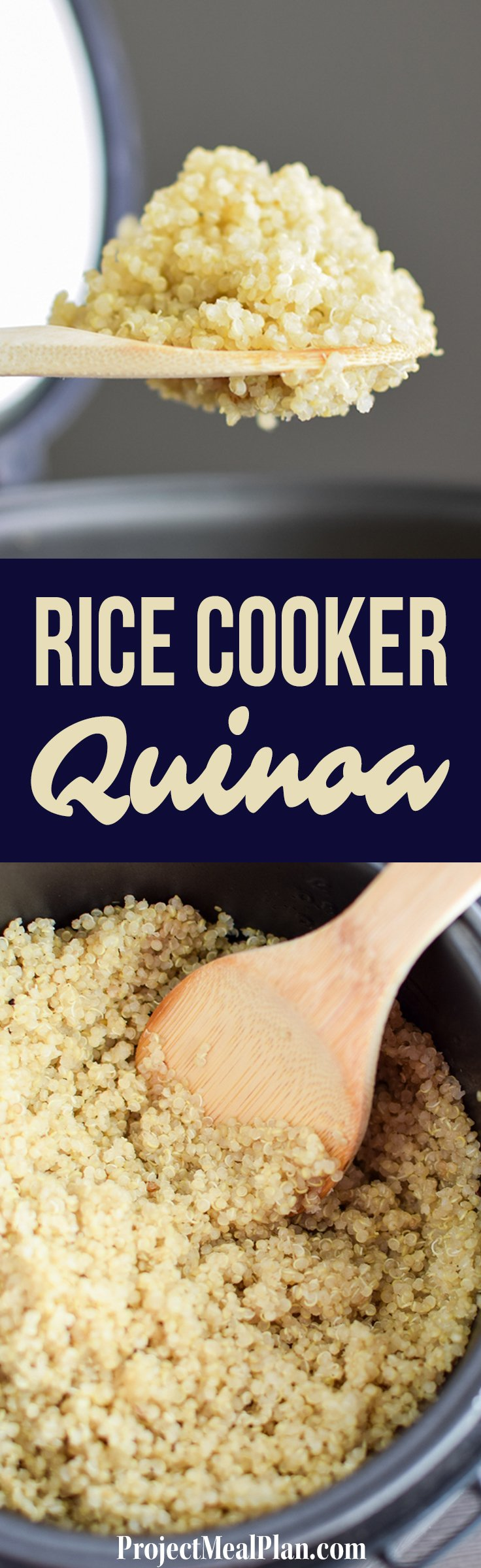 How to Cook Quinoa in the Rice Cooker - A simple explanation of how to make the EASIEST quinoa ever, in your rice cooker! - ProjectMealPlan.com
