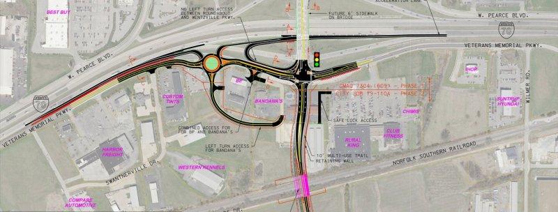 Wentzville Parkway interchange exhibit