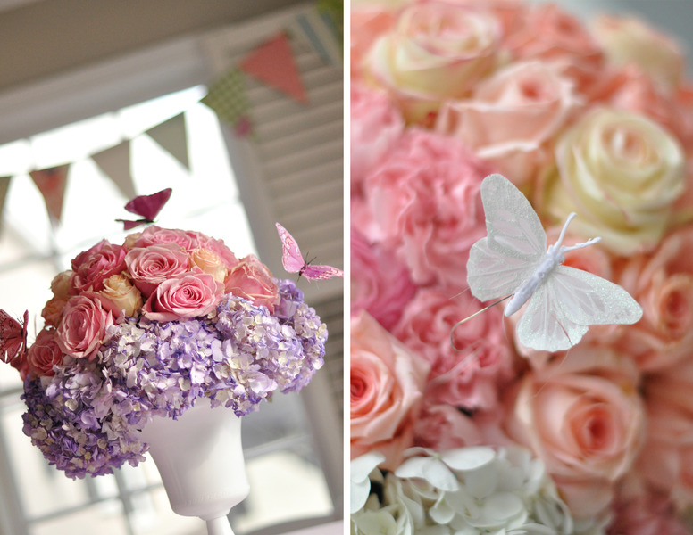 Butterfly And Flower Centerpieces