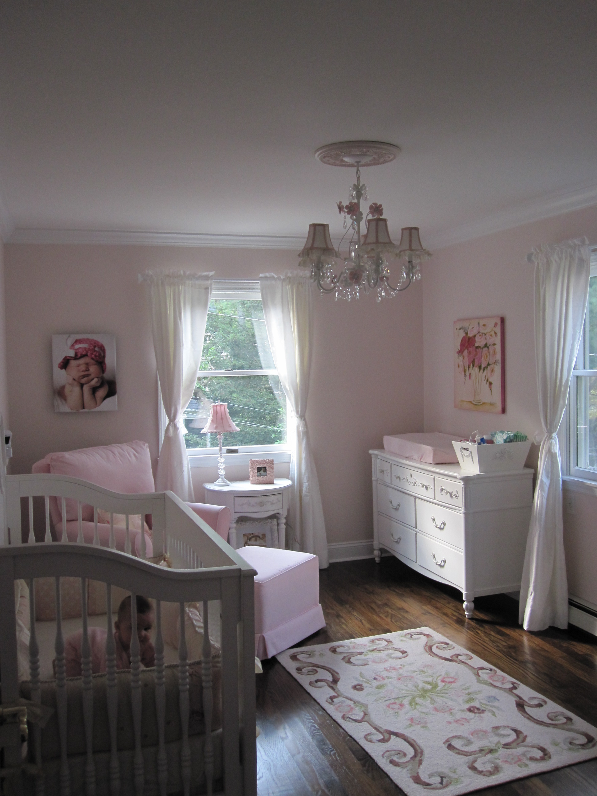 Ava S Pink And White Shabby Chic Nursery Project Nursery