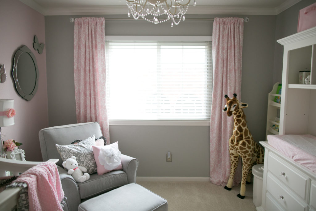 Soft And Elegant Gray And Pink Nursery Project Nursery