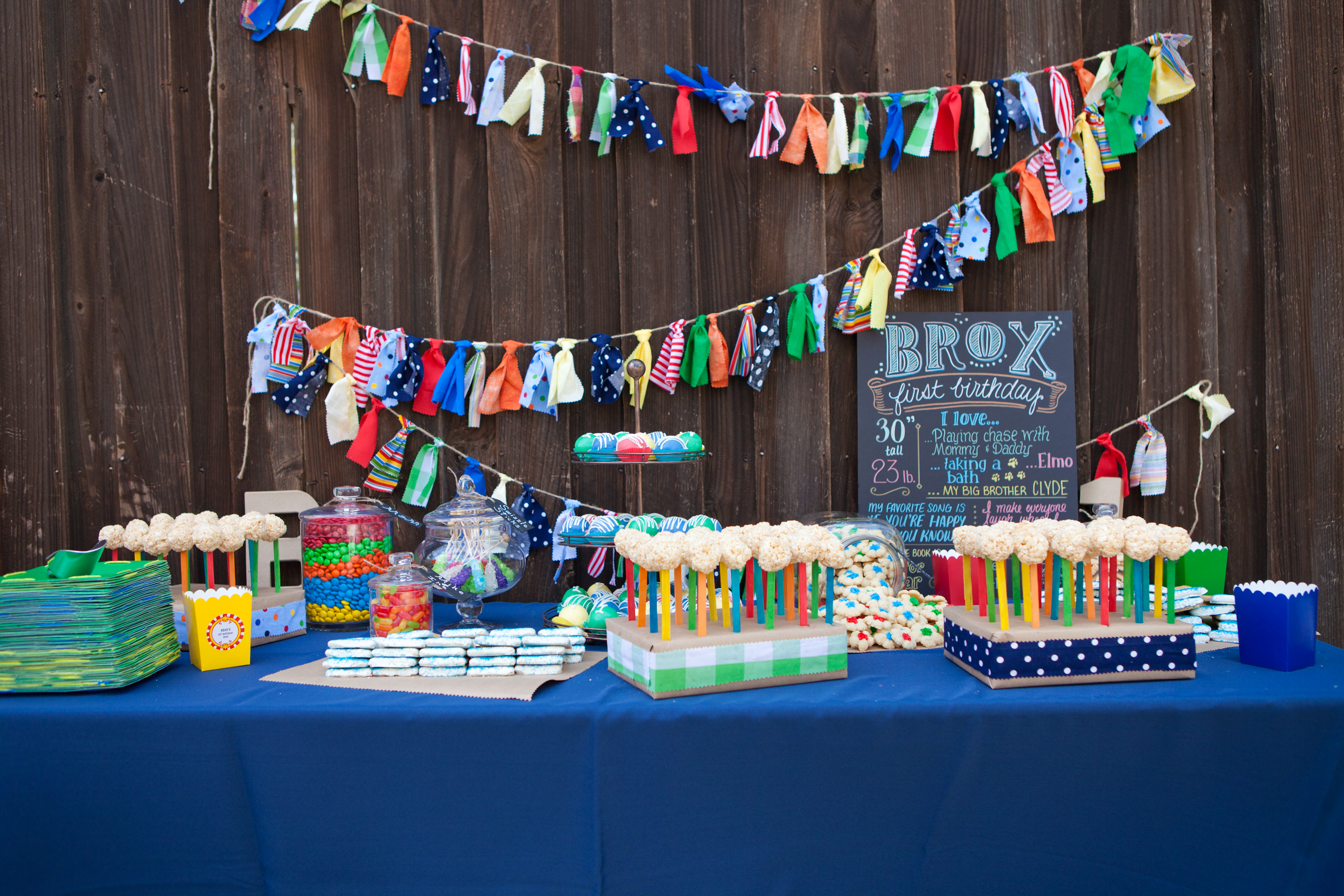 Brox S Primary Color First Birthday Party