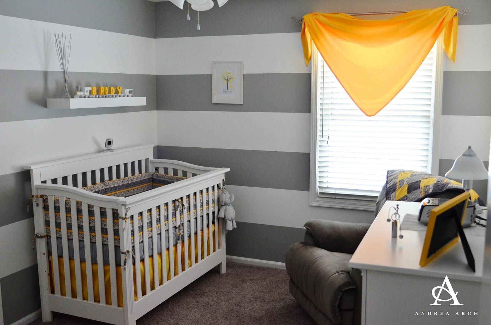 Yellow + Grey Gender Neutral Nursery