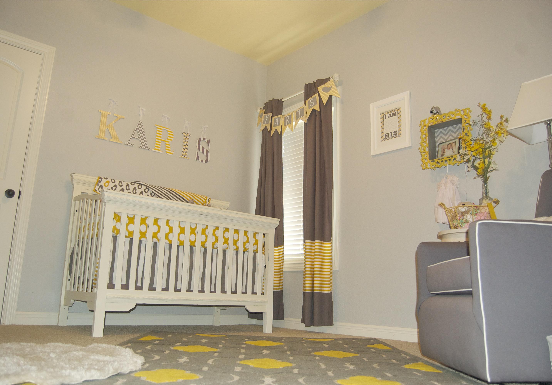 Baby Girl Gray And Yellow Nursery