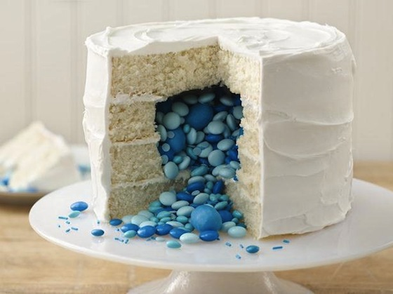 Betty Crocker Candy Filled Gender Reveal Cake