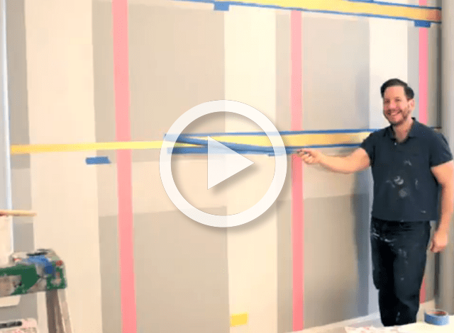 Diy How To Paint A Plaid Accent Wall Project Nursery