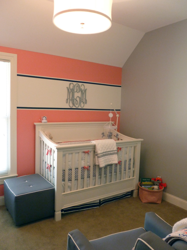 Coral Navy And Gray Vineyard Vines Inspired Nursery