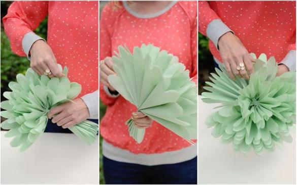DIY  Tissue Paper Flowers   Project Nursery Group tissue paper flowers together in an arrangement  and add leaves for  an instant bloom of happiness