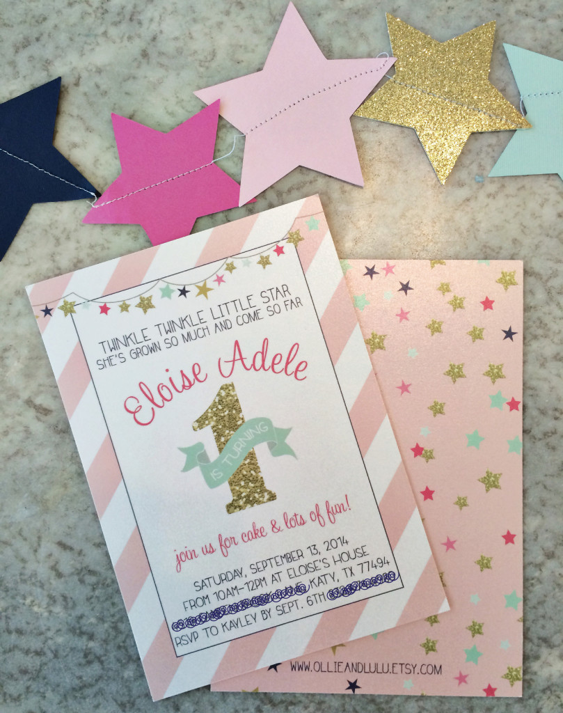 pink and gold twinkle little star 1st