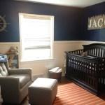 Nautical Boy Orange And Navy Nursery Project Nursery