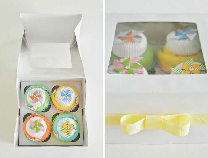 Baby Washcloth Cupcakes Baby Shower Gift