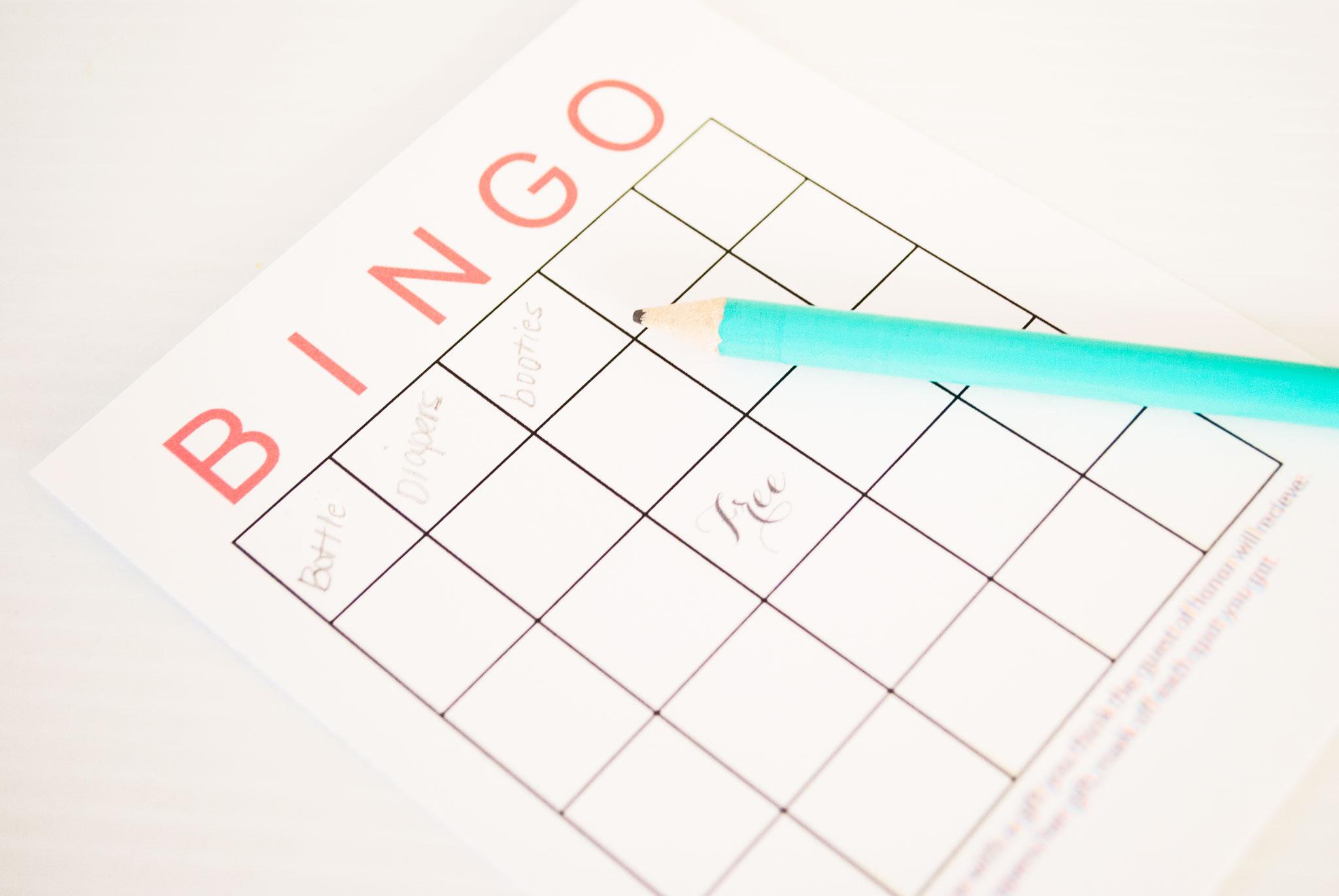 Free Printable Baby Shower Bingo Cards