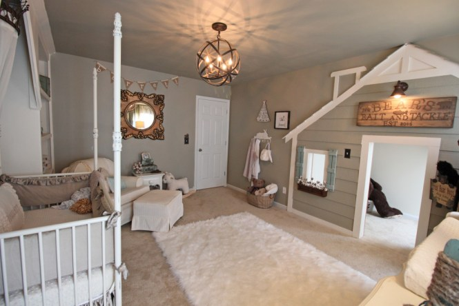 Whimsical Nursery With Metal Orb Chandelier Project