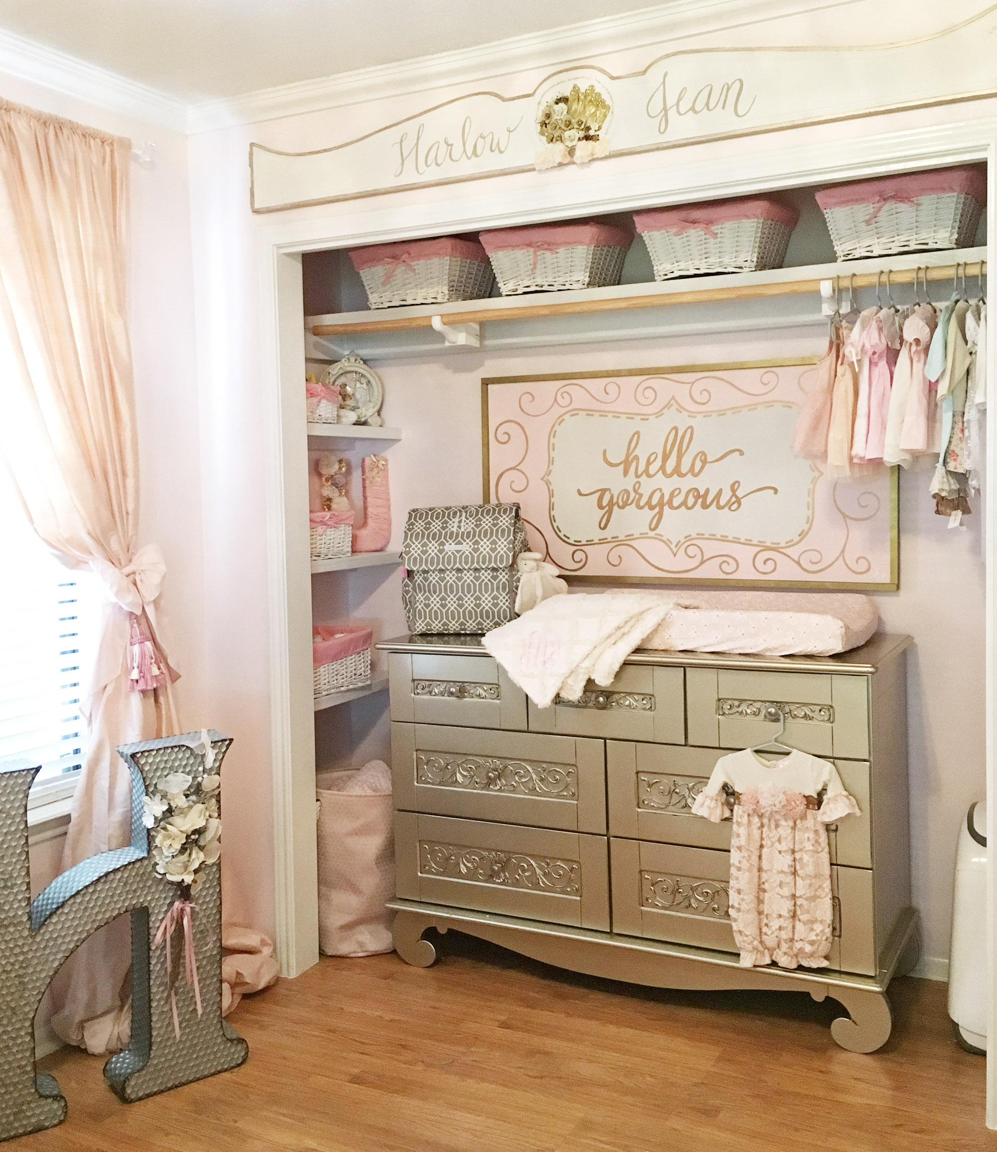 Design Reveal Harlow S Vintage Glam Nursery