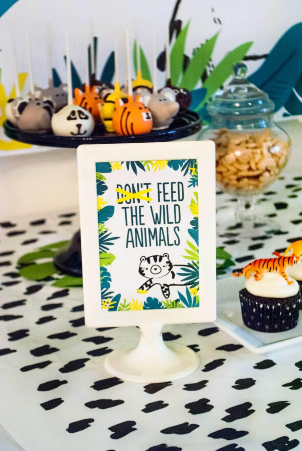 Wild Animal Birthday Party Decor