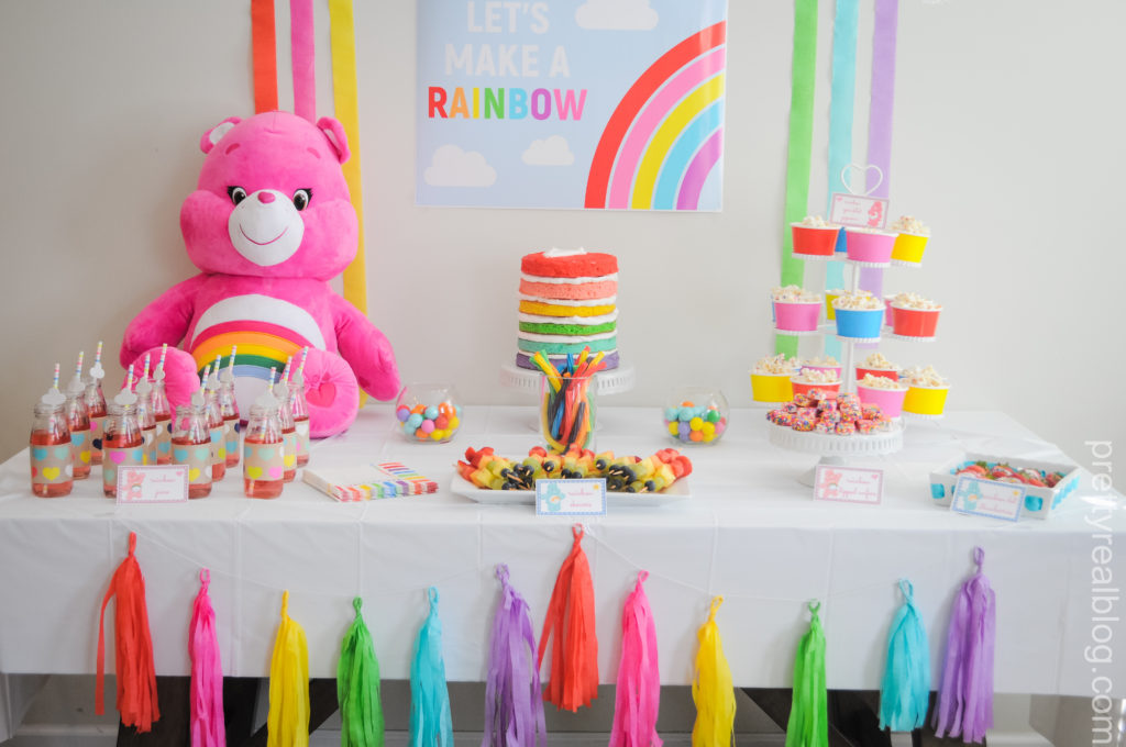 Readers Favorite Genevieve S Let S Make A Rainbow Care Bears Party Project Nursery