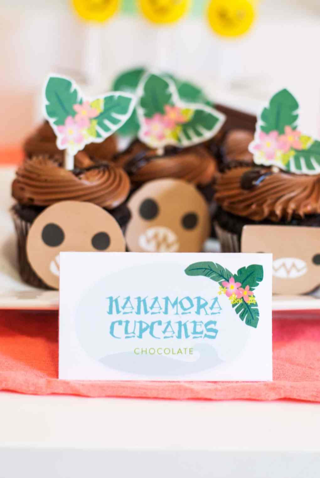 Moana Birthday Party Ideas Kakamora Cupcakes - Project Nursery