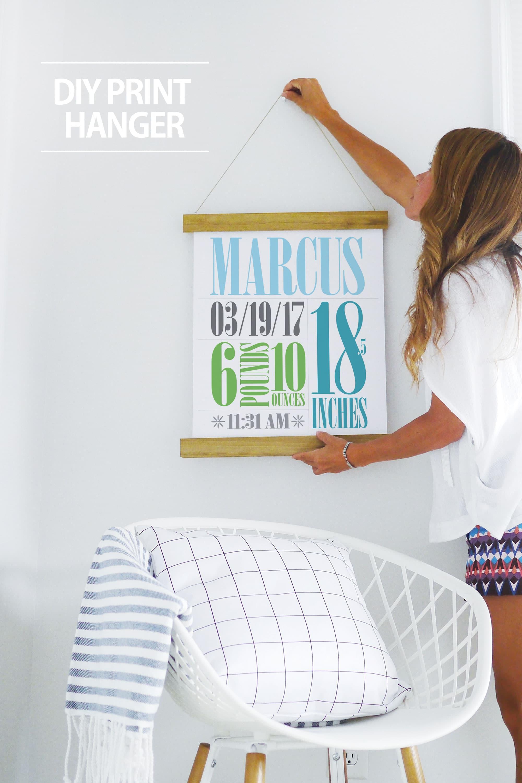 easy diy poster hanger tutorial