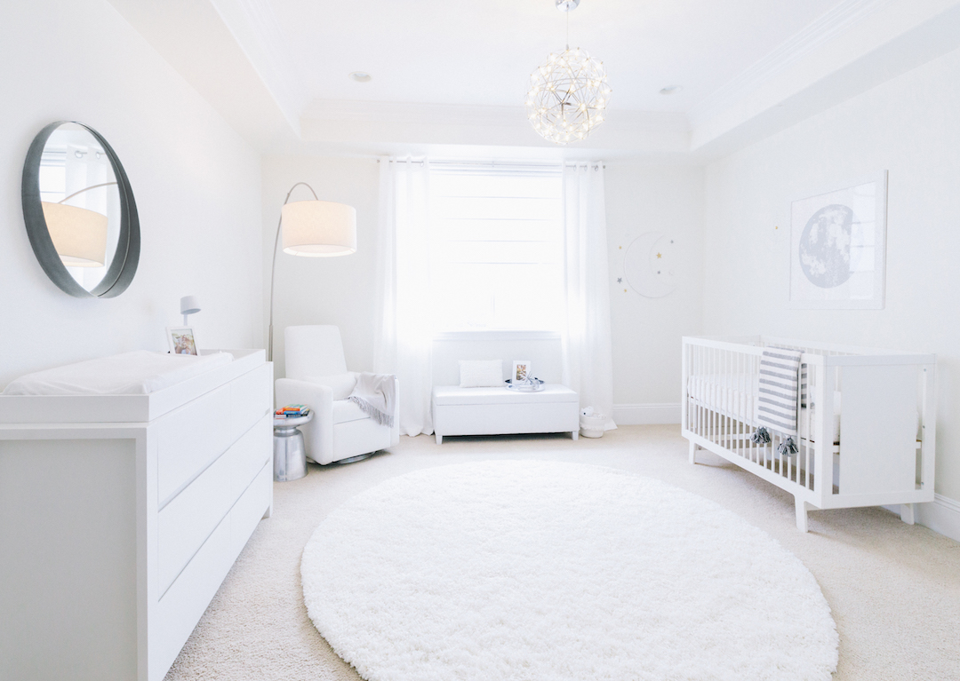 All White Nursery Design by Little Crown Interiors