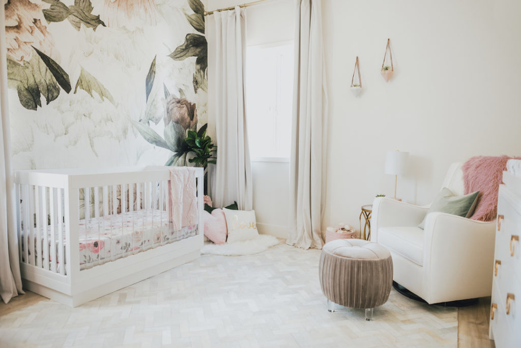 Jessi Malay's Floral Nursery Design by Little Crown Interiors