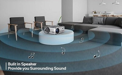 Q6 Projector Audio System Speakers