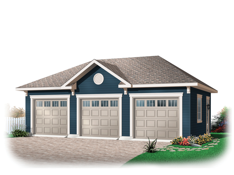 Lynwood Three-Car Garage Plan 113D-6031