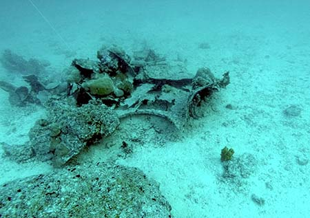 avenger wreck pieces found by bentprop palau